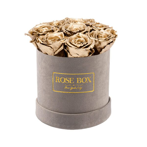 small gray gold roses