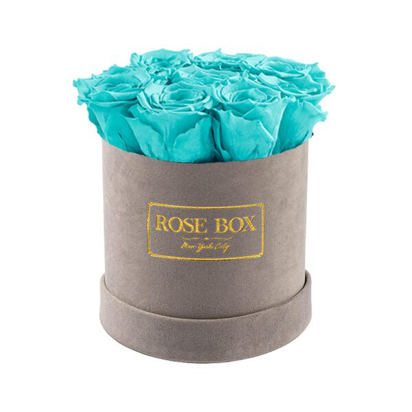 small gray turquoise roses