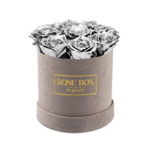small gray silver roses